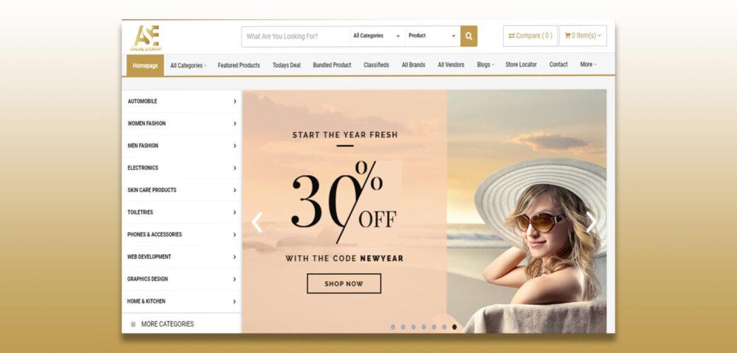 Ecommerce Website Development For ASE Online Store
