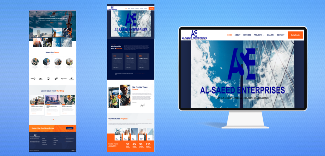 Construction Website development For Alsaeed Enterprises (PVT.) Limited